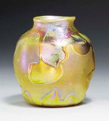 A 'LAVA' FAVRILE GLASS VASE