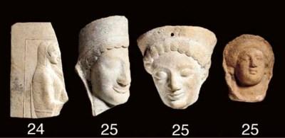 A GREEK TERRACOTTA RELIEF