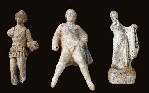 THREE GREEK TERRACOTTA FIGURES