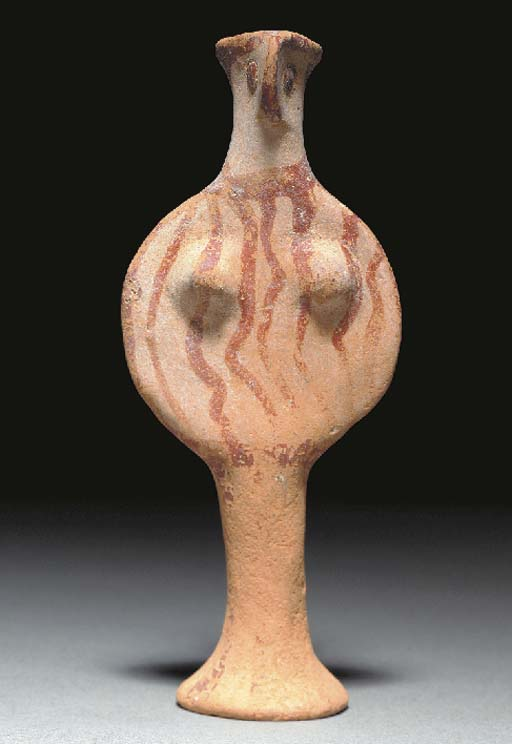 A MYCENAEAN TERRACOTTA FEMALE