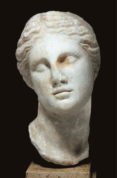 A GREEK MARBLE PORTRAIT OF A Q