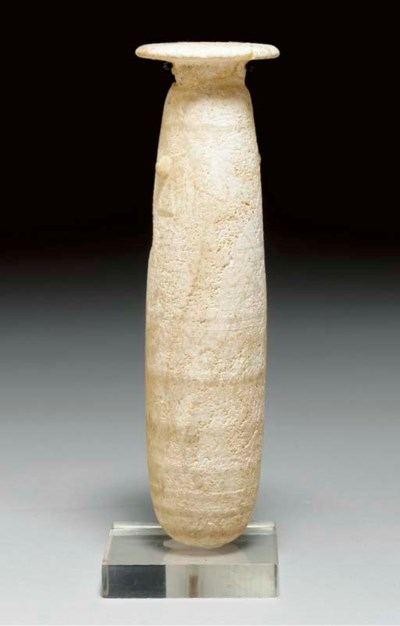 AN EGYPTIAN BANDED ALABASTER A