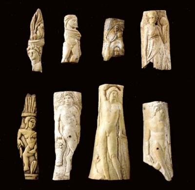 EIGHT ROMANO-EGYPTIAN FRAGMENT