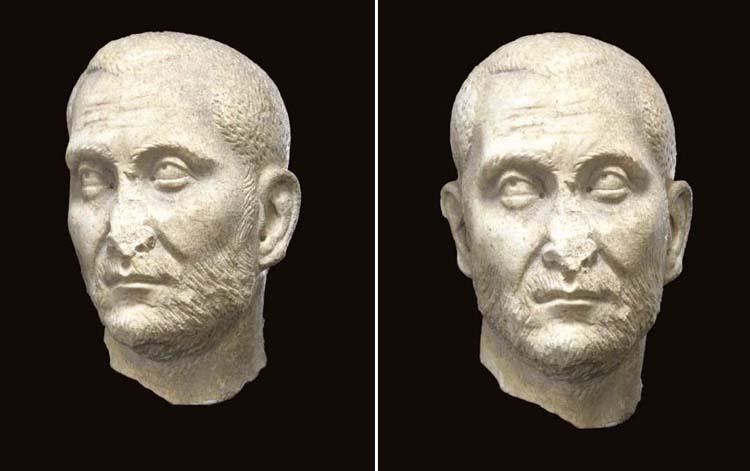 A ROMAN MARBLE PORTRAIT HEAD OF A MAN