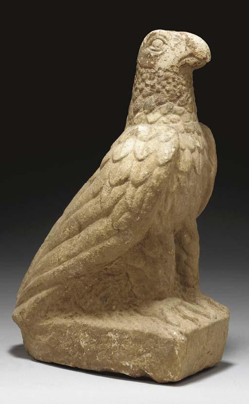 A LATE ROMAN MARBLE EAGLE