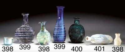 A ROMAN GLASS DATE FLASK