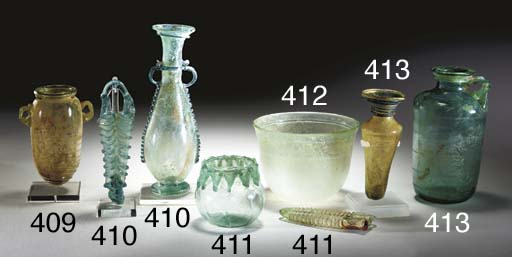 TWO BYZANTINE GLASS VESSELS
