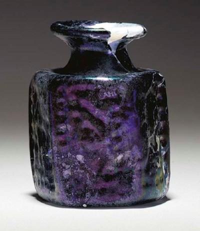 A BYZANTINE HEXAGONAL GLASS JA