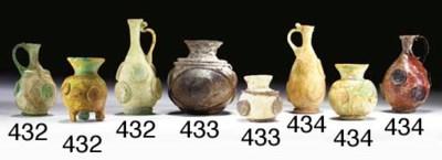 THREE ISLAMIC GLASS VESSELS