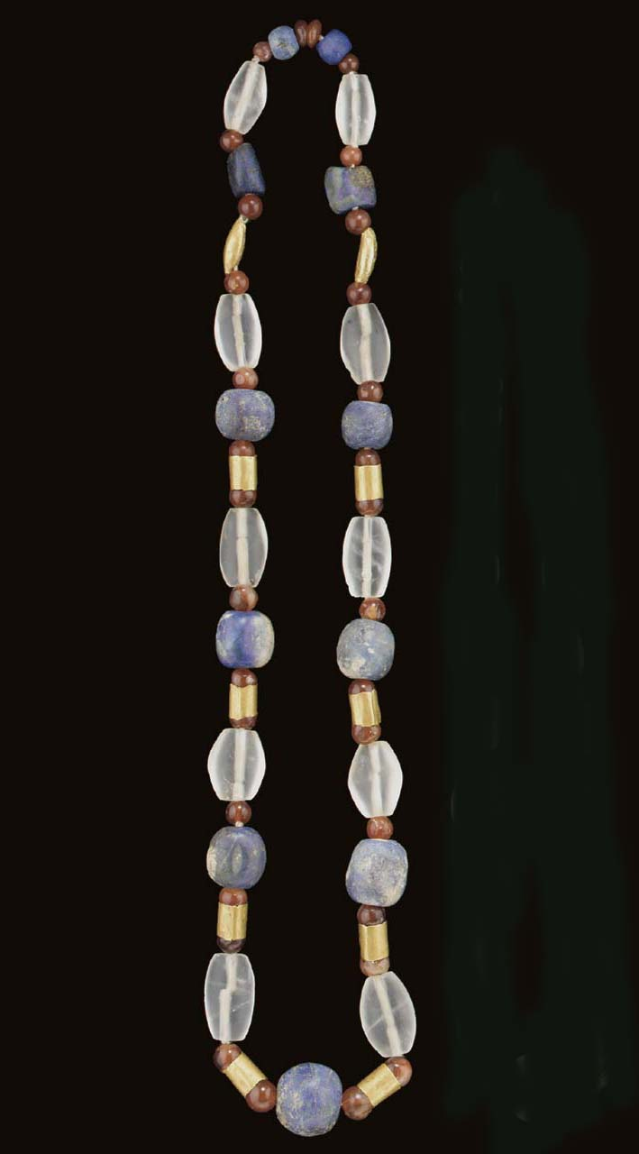 A WESTERN ASIATIC GOLD, LAPIS,