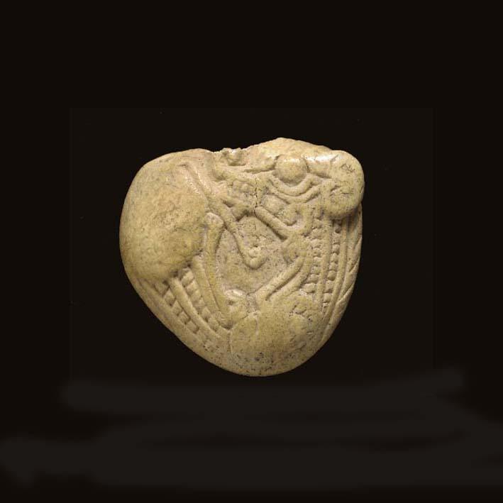 A SCYTHIAN BONE SCABBARD CHAPE