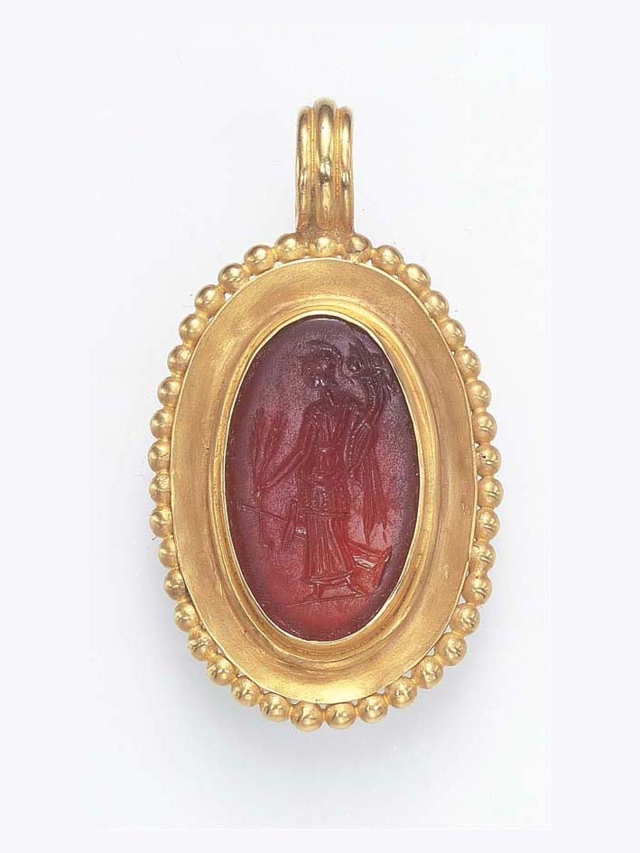 A GREEK CARNELIAN RING STONE