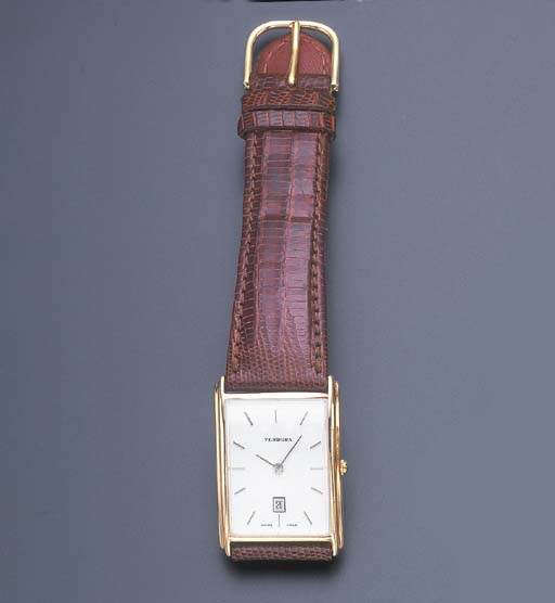 A GOLD WRISTWATCH, BY VERDURA