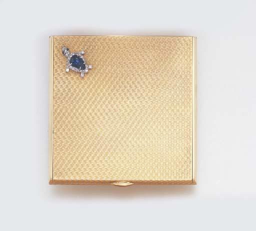 A GOLD, SAPPHIRE AND DIAMOND C
