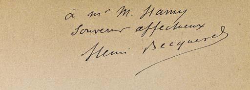 BECQUEREL, Henri. Recherches s