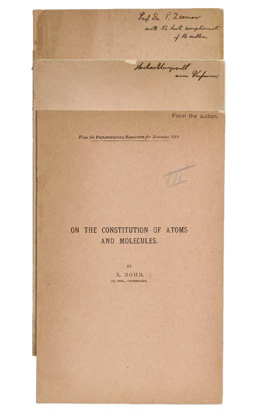 BOHR, Niels. On the Constituti