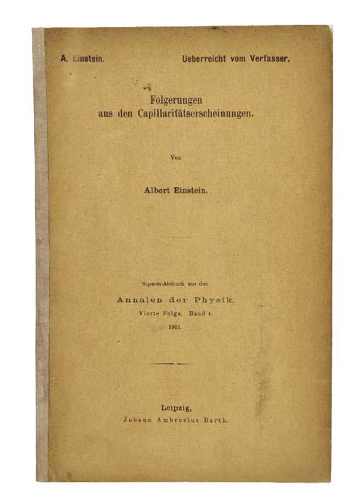 EINSTEIN, Albert (1879-1965).