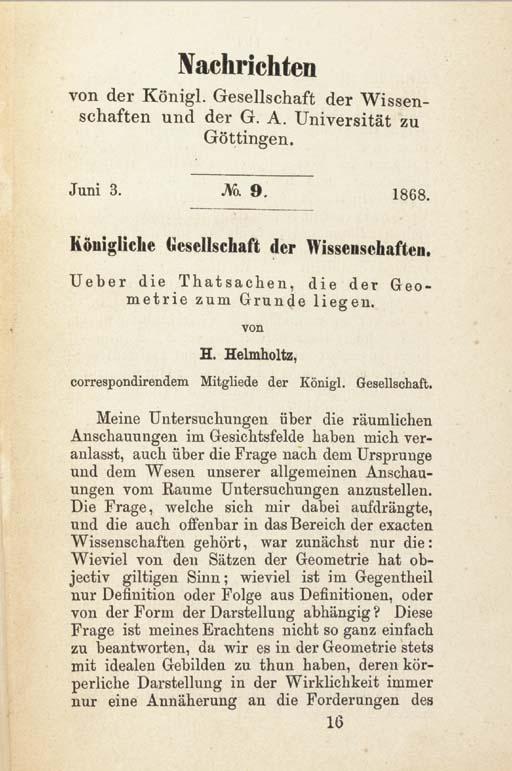 HELMHOLTZ, Hermann Ludwig Ferd