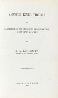 LORENTZ, Hendrik Antoon. Versu