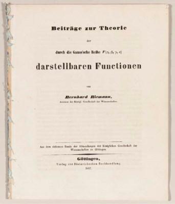 RIEMANN, Bernhard (1826-1866).