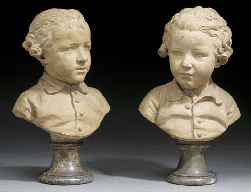 TWO TERRACOTTA BUSTS OF BOYS