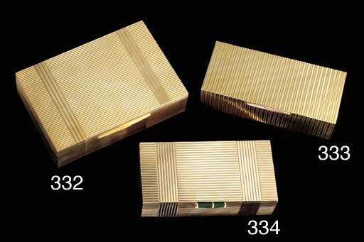 AN AMERICAN GOLD CIGAR BOX