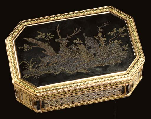 A LOUIS XVI GOLD AND TORTOISE
