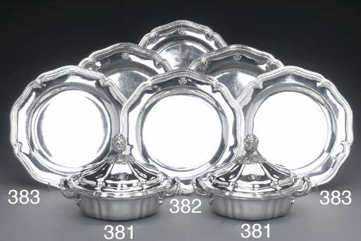 A PAIR OF FRENCH SILVER SECOND