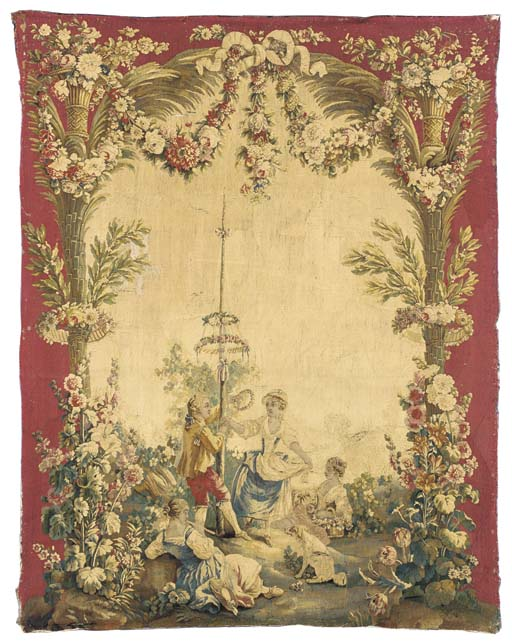A LOUIS XVI BEAUVAIS TAPESTRY