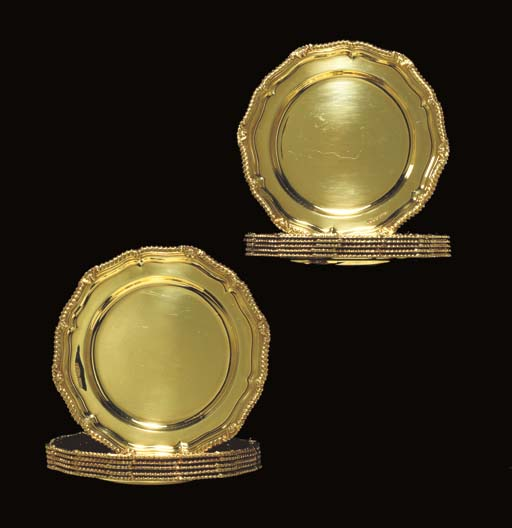 A SET OF TWELVE GEORGE VI GOLD
