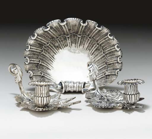 A SET OF EIGHT SILVER-PLATE LE