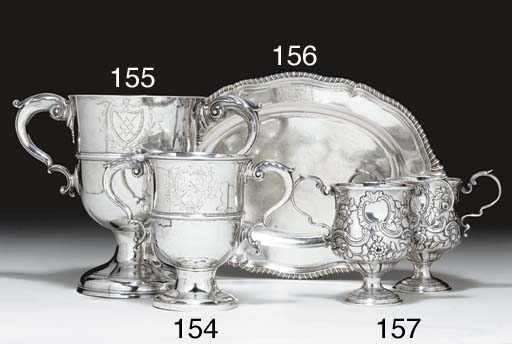 A GEORGE II SILVER SMALL MEAT
