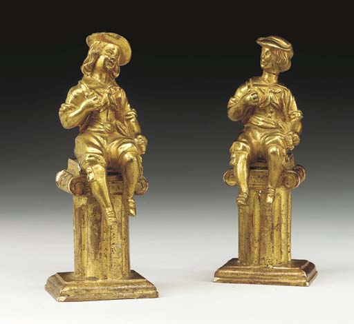 A PAIR OF FRENCH ORMOLU FIGURE