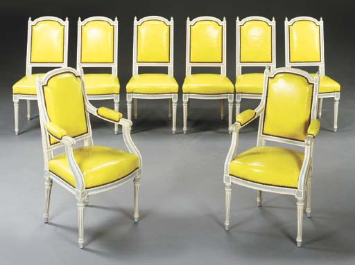 A SET OF EIGHT LOUIS XVI STYLE