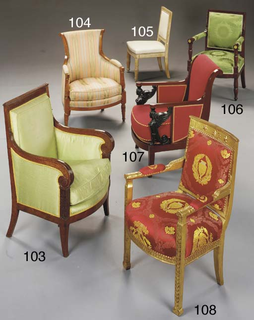 A DIRECTOIRE FRUITWOOD BERGERE