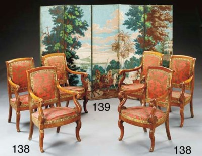 A SET OF SIX LOUIS-PHILIPPE WA
