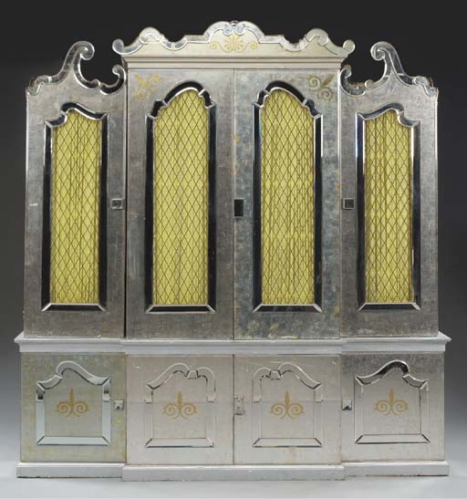 A ROCOCO STYLE SILVERED WOOD,