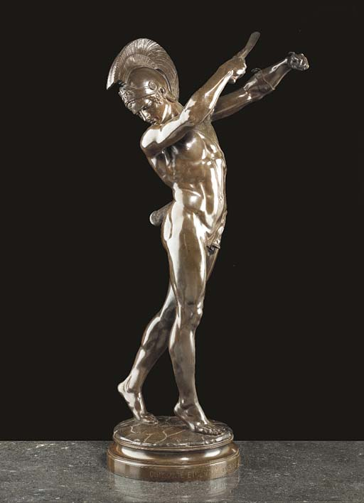 A FRENCH BRONZE SCULPTURE OF A