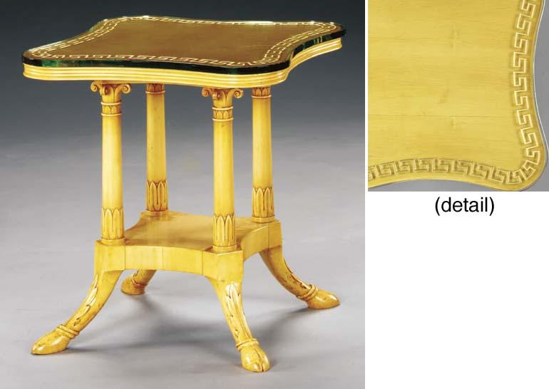 A HAREWOOD SIDE TABLE