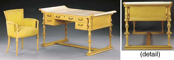 AN IMPORTANT SYCAMORE DESK AND