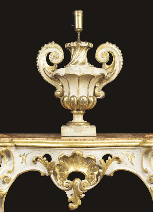 A LARGE ROCOCO STYLE WHITE AND