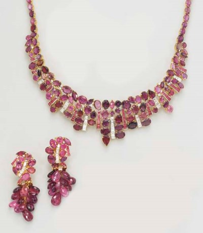 A SUITE OF PINK TOURMALINE, DI