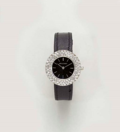 A DIAMOND WRISTWATCH, BY BULGA