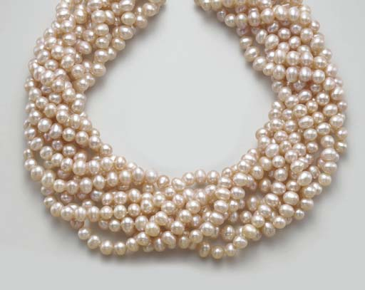 AN EIGHT-STRAND CULTURED PEARL
