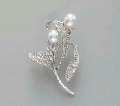 A DIAMOND AND CULTURED BAROQUE
