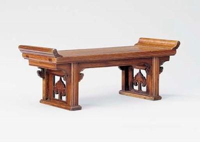 A HUANGHUALI MINIATURE TABLE S