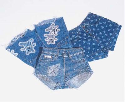 Lot de jeans, comprenant veste