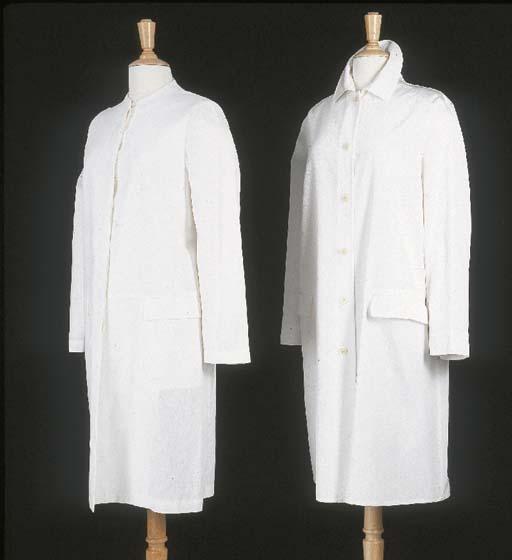 Manteau d'été, en lin blanc ca