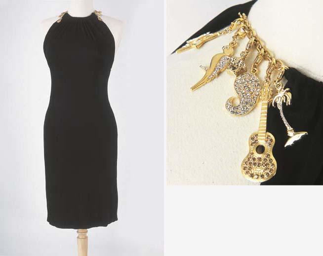 Petite robe en jersey noir, à