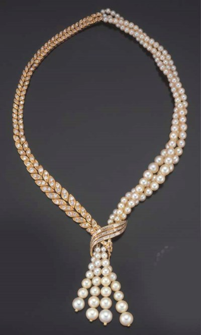 COLLIER OR, PERLES DE CULTURE